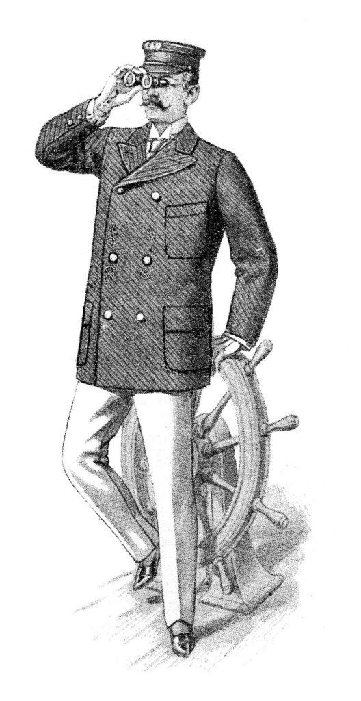 Man Suit Ship's Wheel Clipart