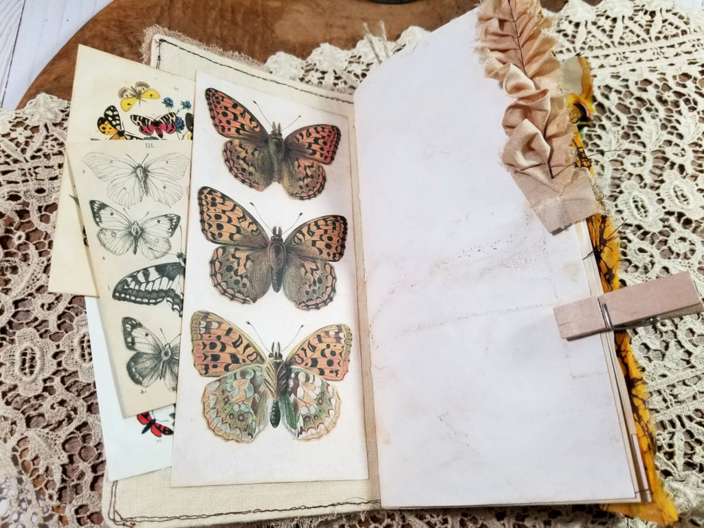 butterfly printable junk journal page