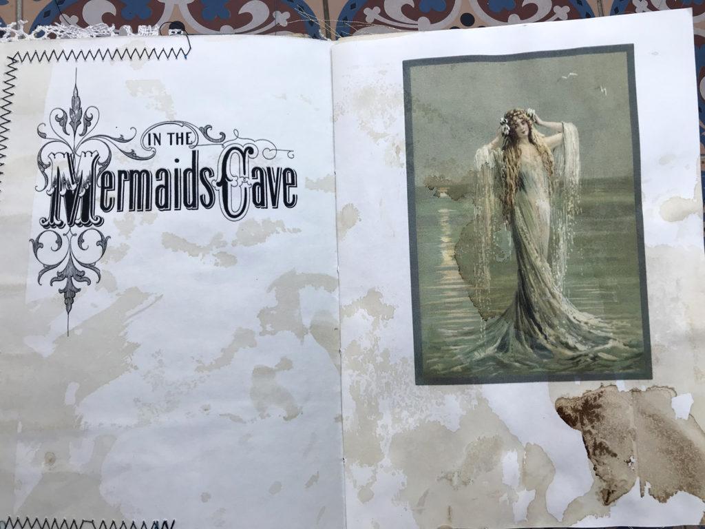 Oceanside Junk Journal Mermaid Page