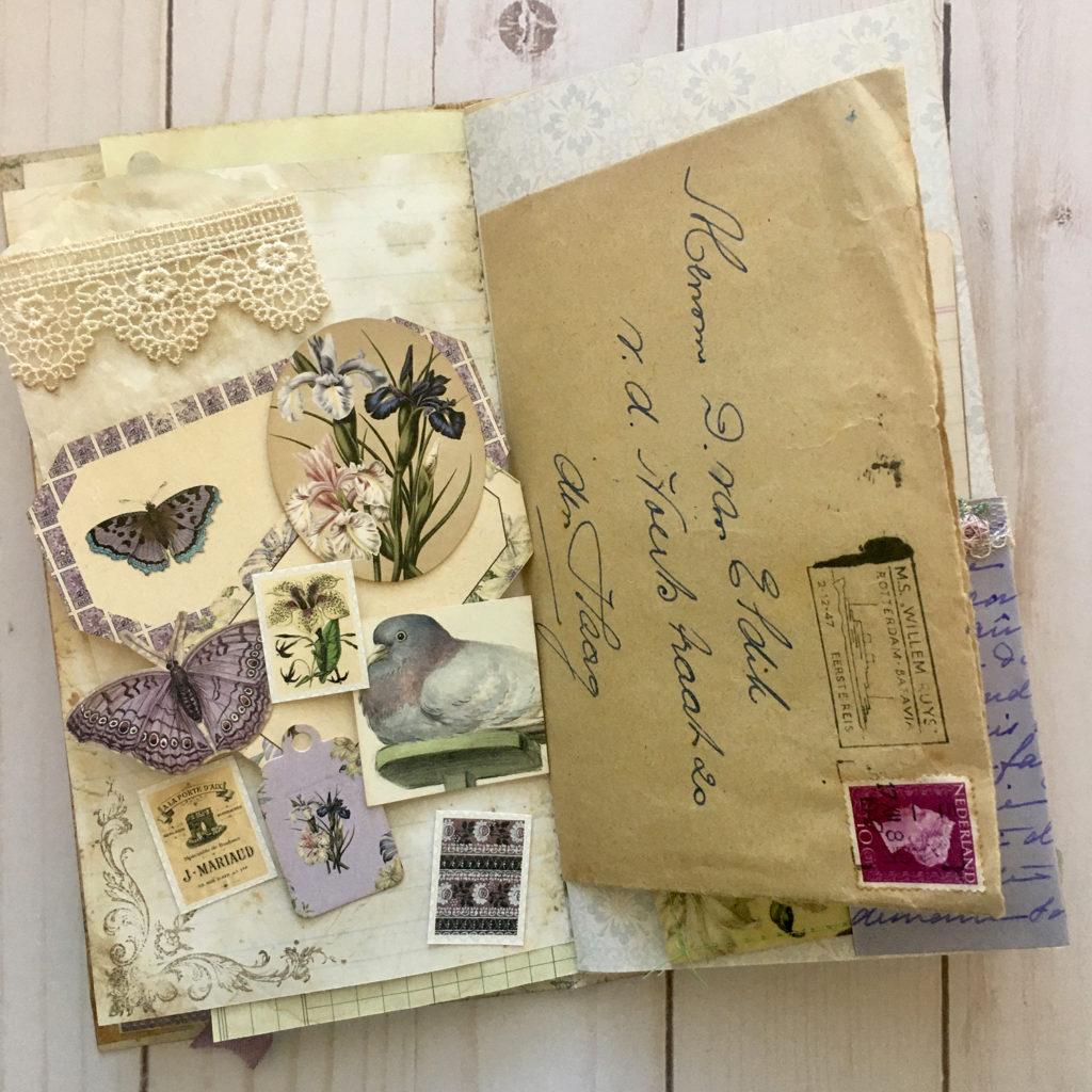 Vintage Envelope Journal Page