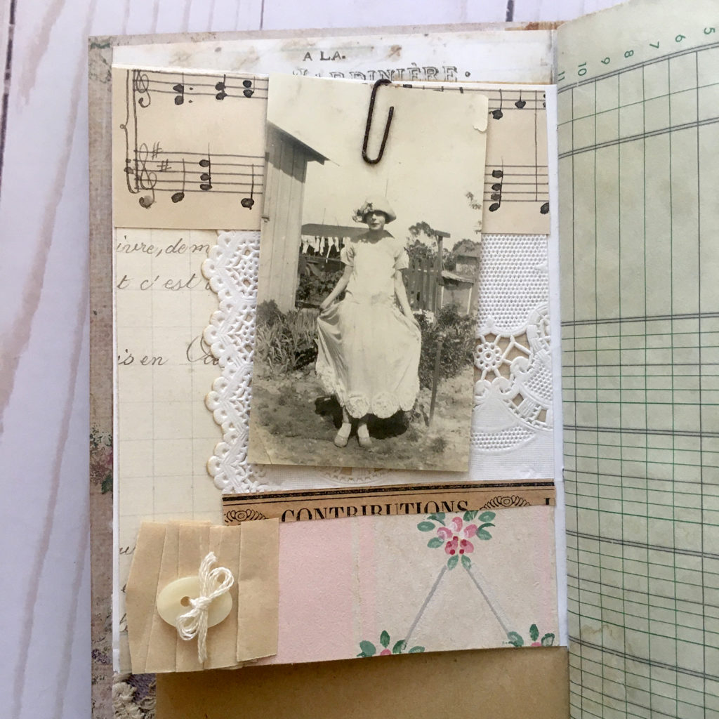 collaged journal page vintage photo image