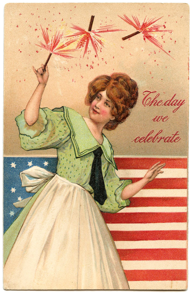 Patriotic Lady Image