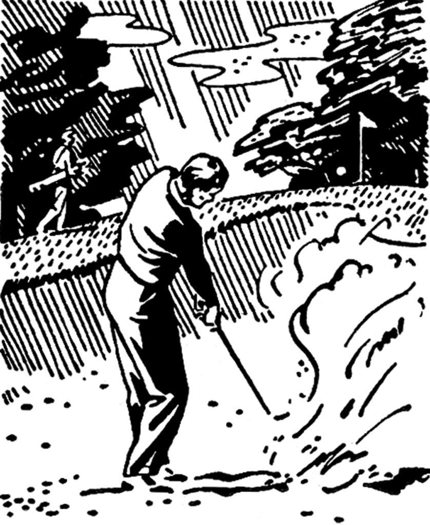 retro golfer clipart