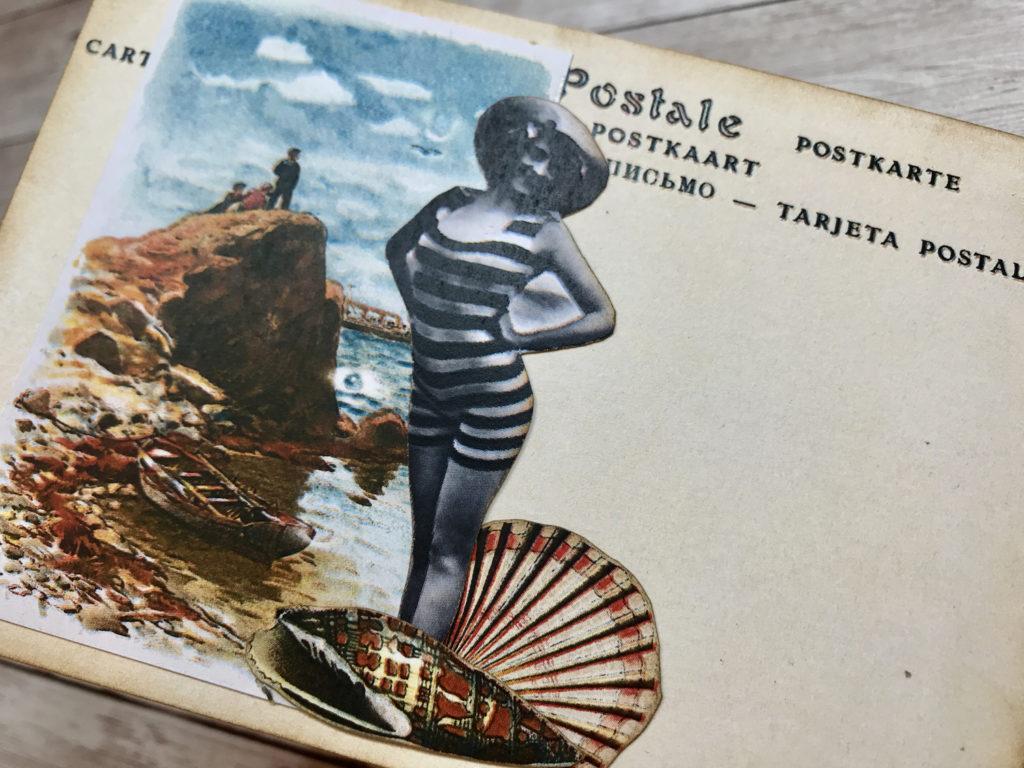 girl bathing suit vintage image
