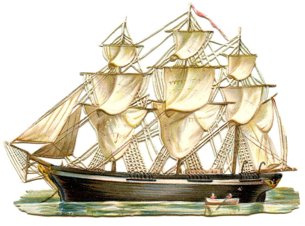 ship vintage illustration