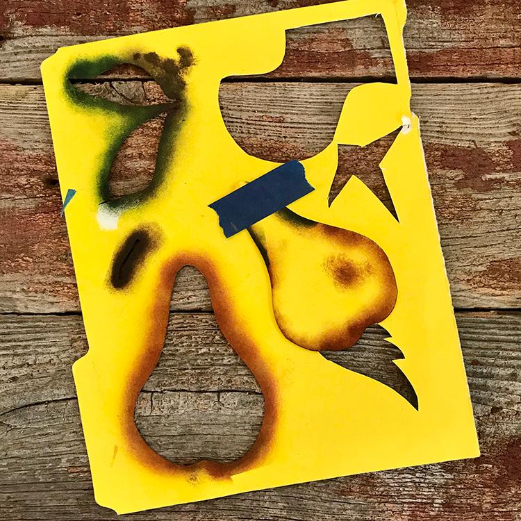 Stencil Cut from File Folder