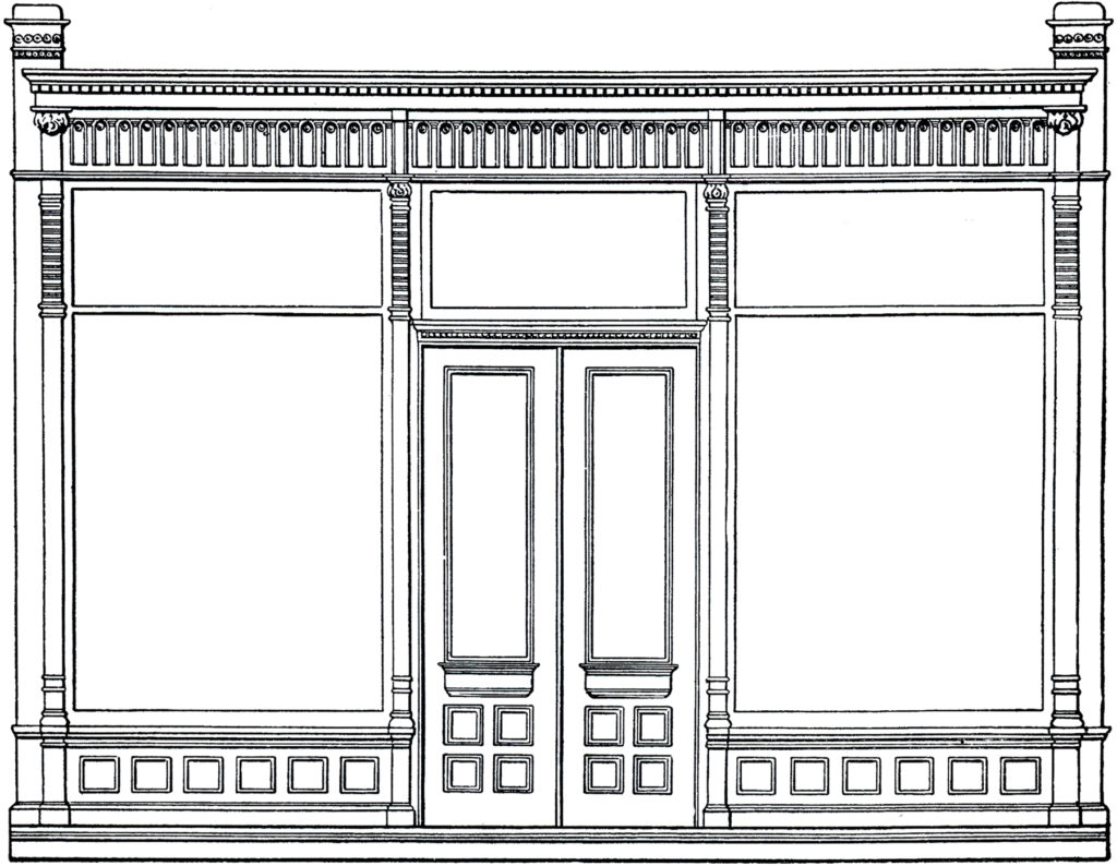 old store front architecture image