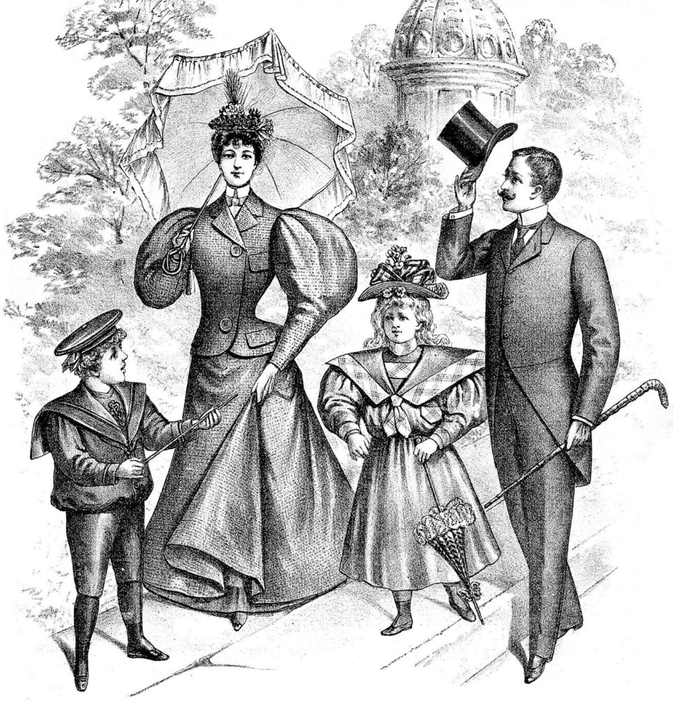 Victorian Family Vintage Clipart