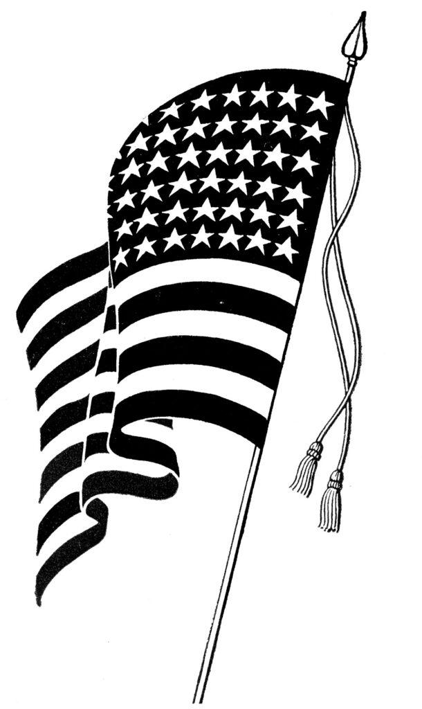 Vintage American Flag Clipart