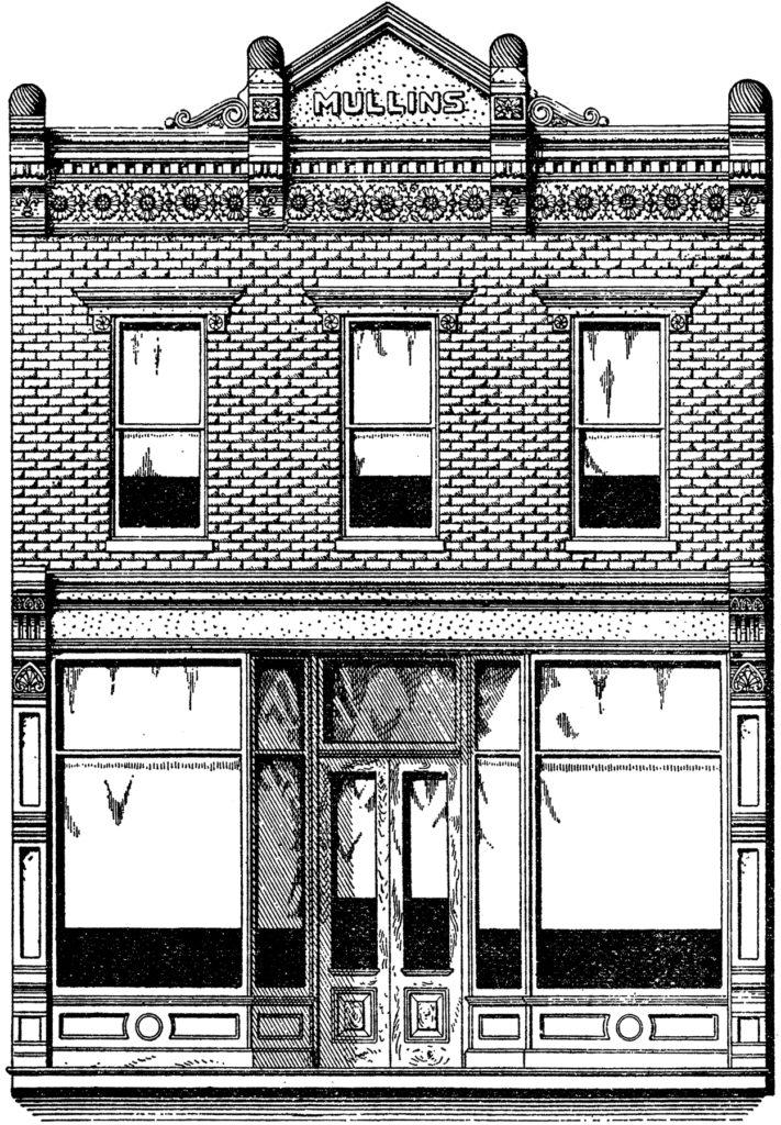 vintage brick storefront image
