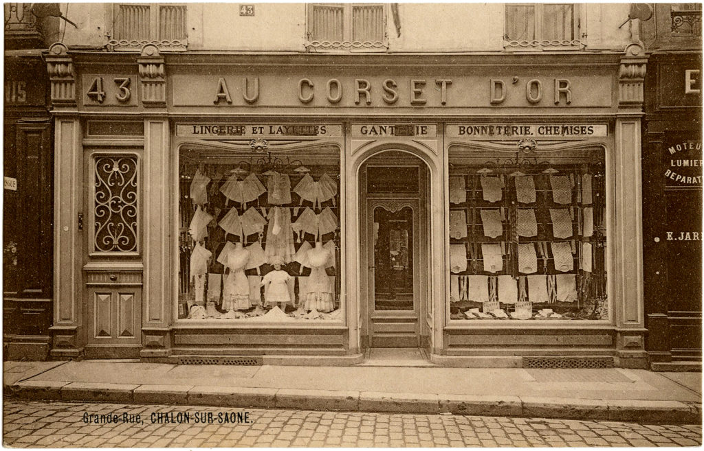vintage french corset store photo image