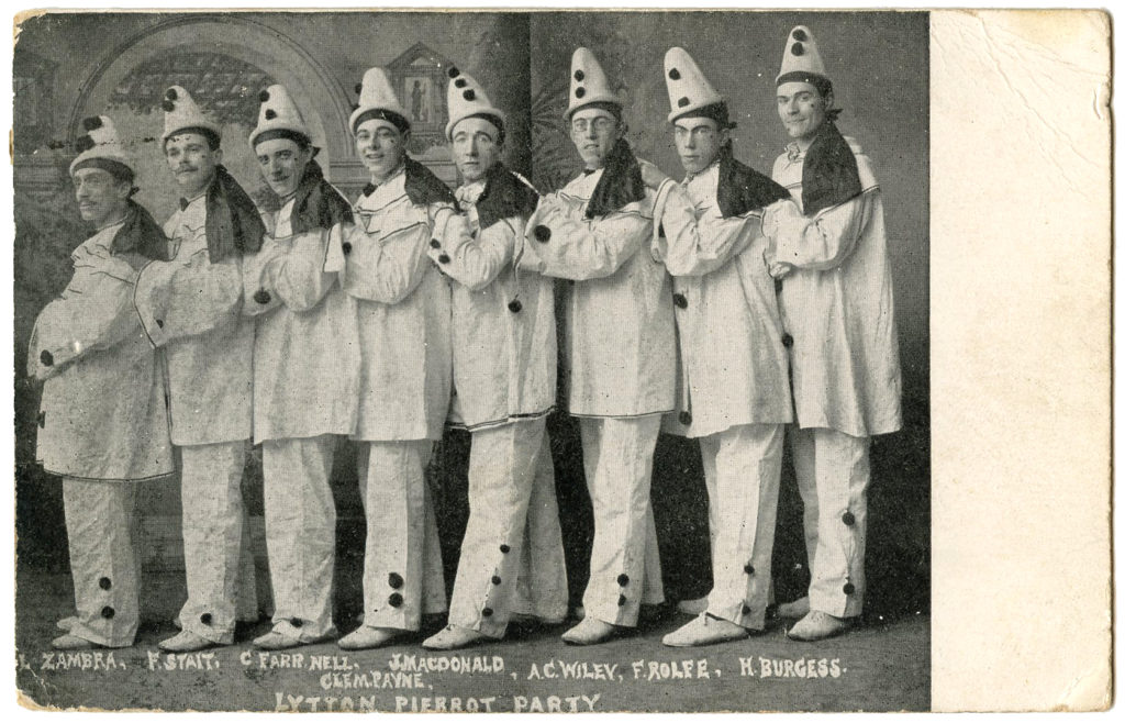 men Pierrot clowns photo image