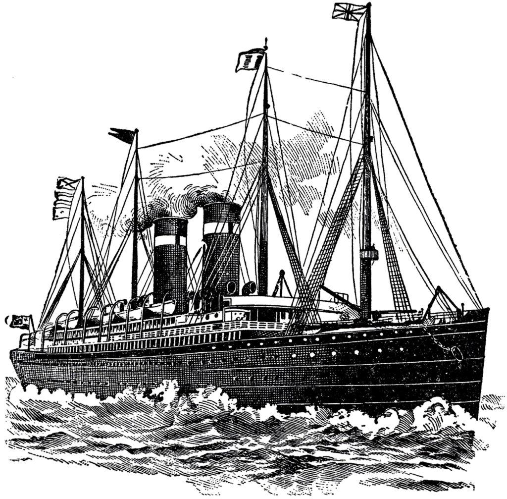 vintage ocean liner ship image
