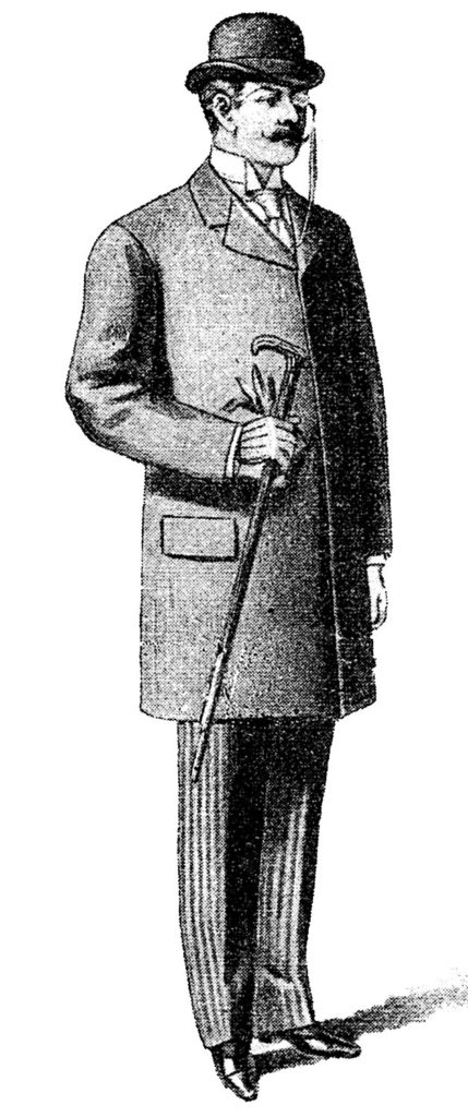 Gentleman Hat Monocle Illustration