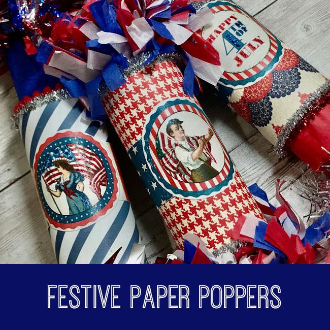 festive paper poppers tutorial