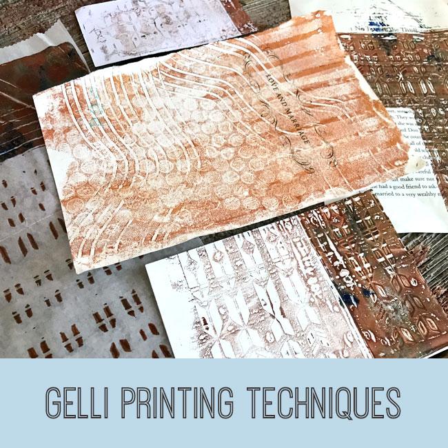 gelli printing techniques tutorial