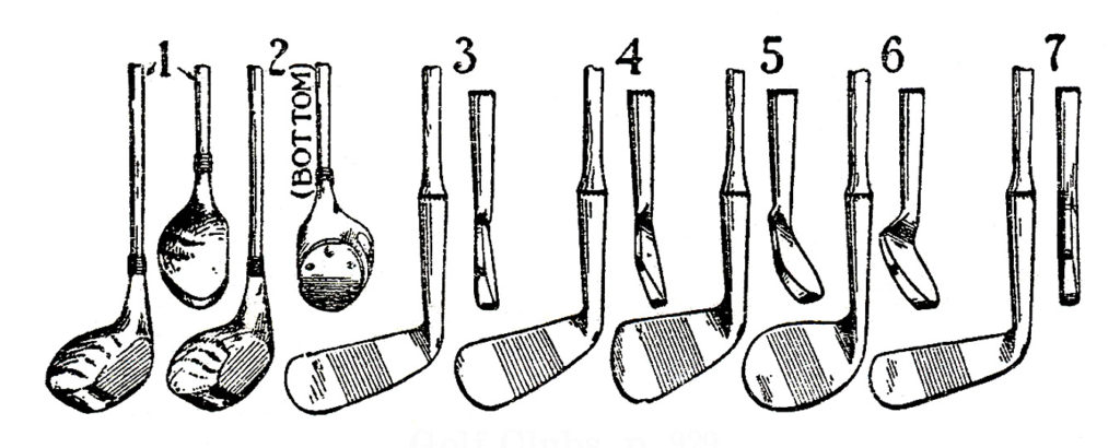 vintage golf club illustration