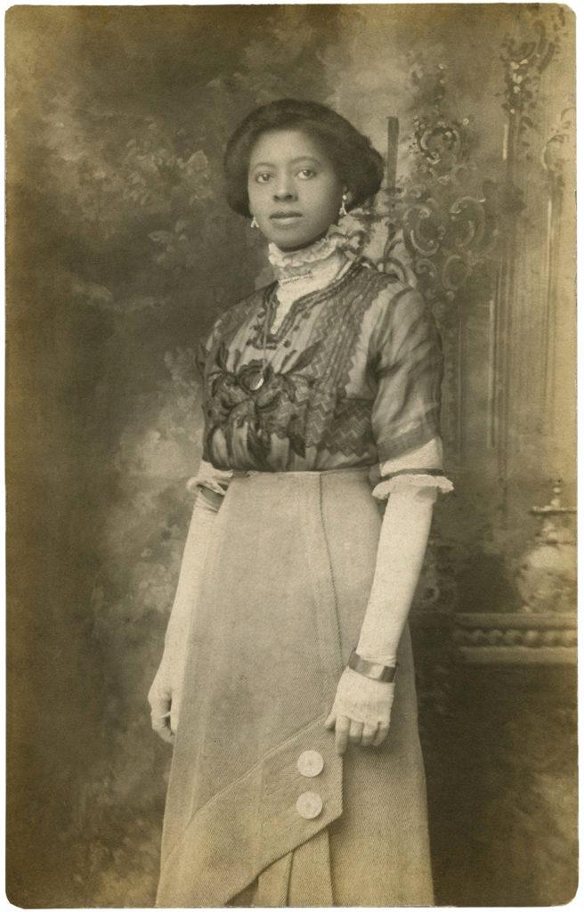 black african american edwardian lady fashion image