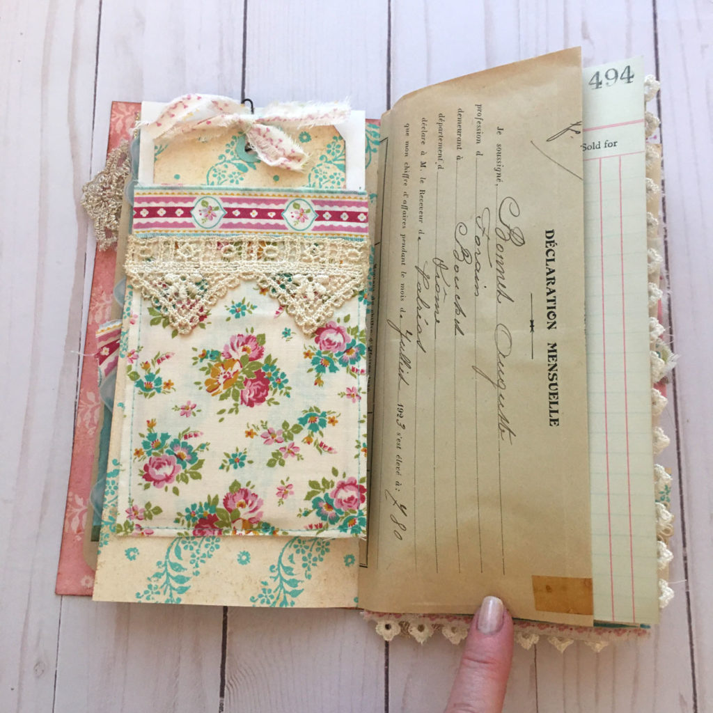 Boho Ephemera Junk Journal Page