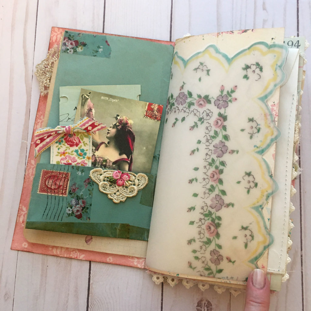 hanky junk journal page