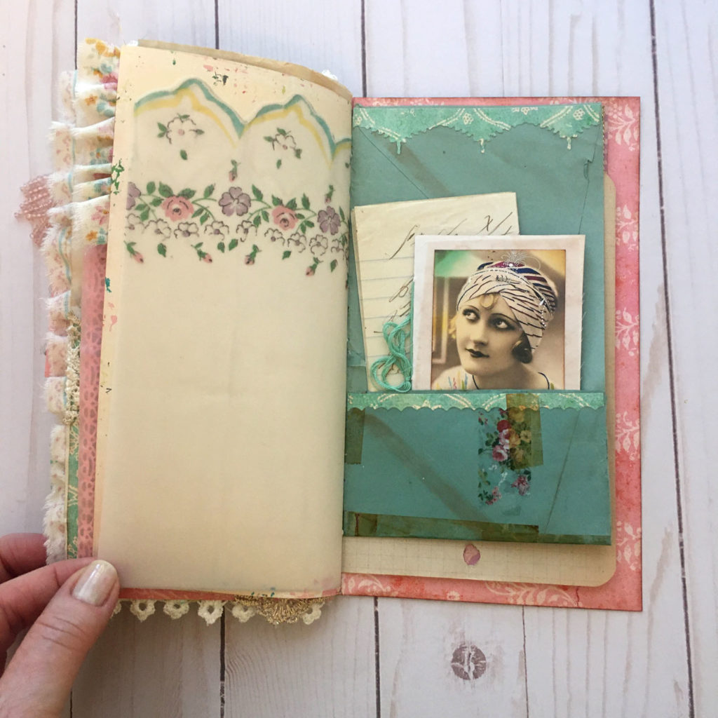 Ephemera Junk Journal page