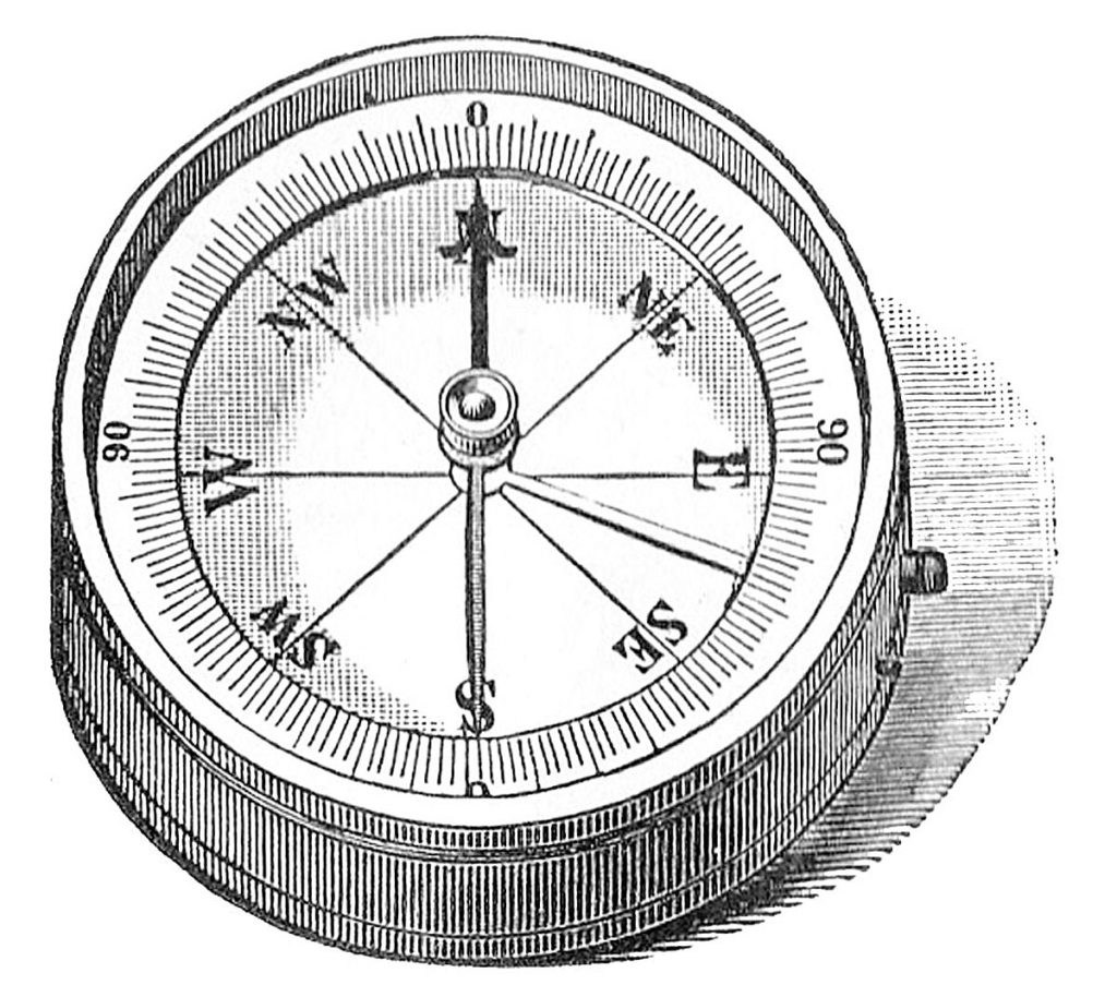 black white compass clip art