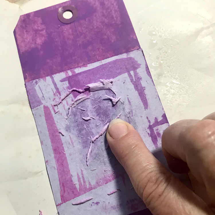 Begin to Rub off Backing Paper