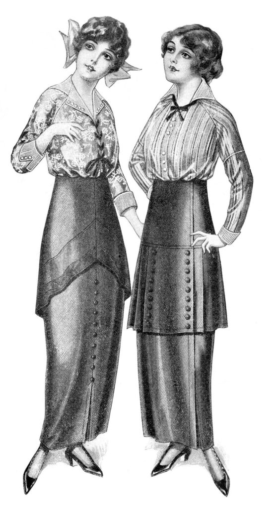 Edwardian fashion ladies illustration