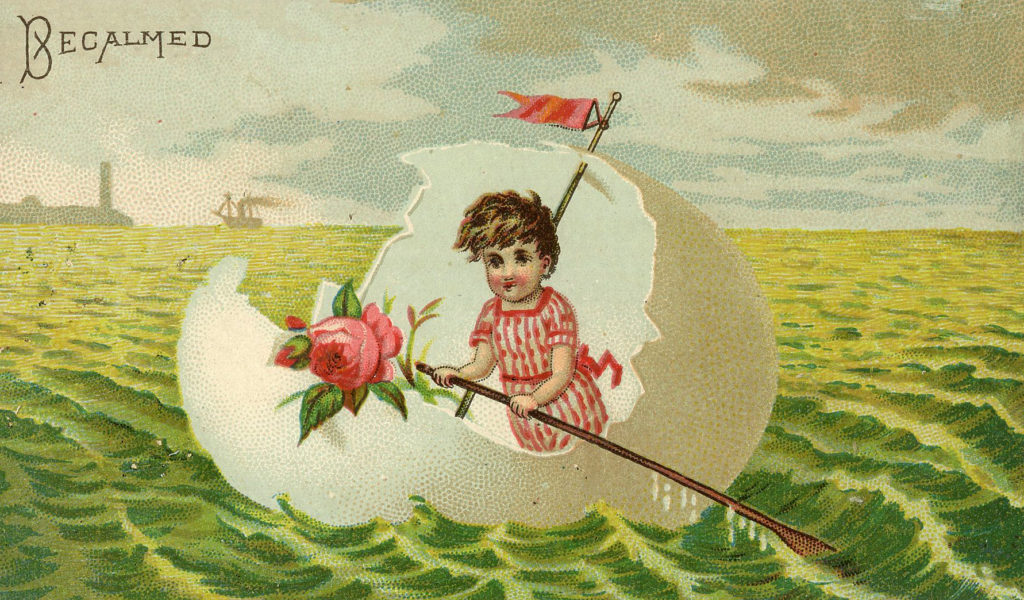eggshell boat child image