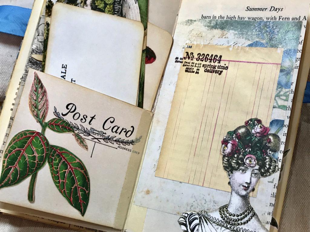 post card pocket lady bust