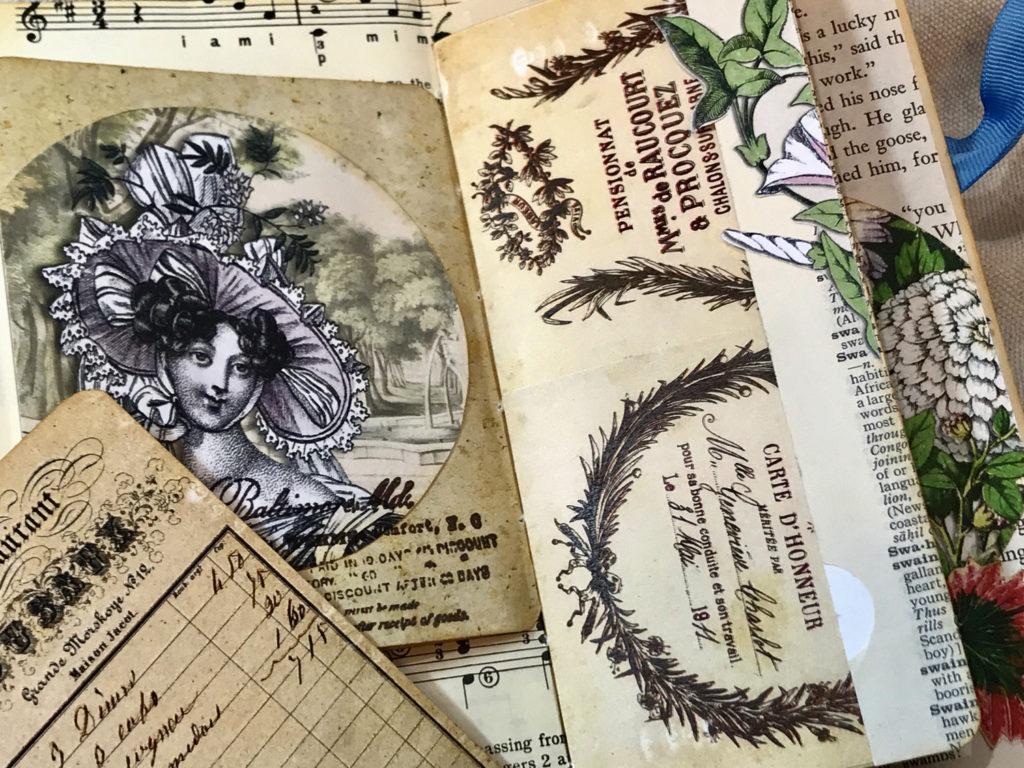 mixed ephemera junk journal
