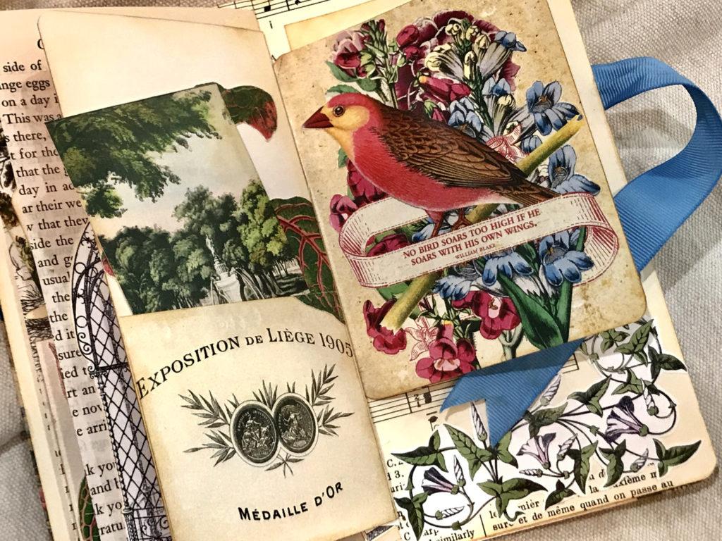 birds and ephemera journal page