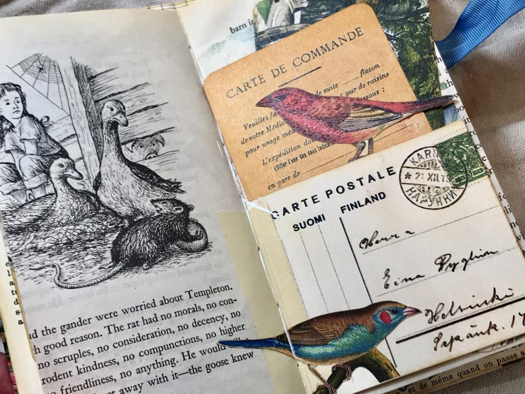 bird ephemera journal page