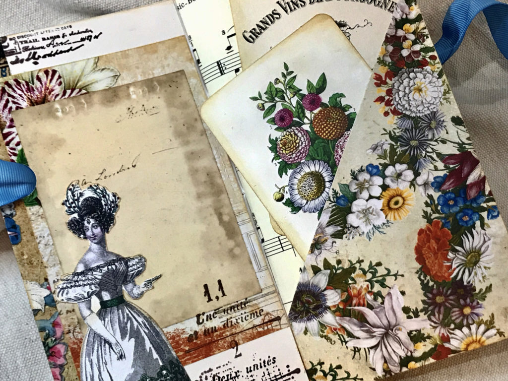 garden party slash pocket journal page