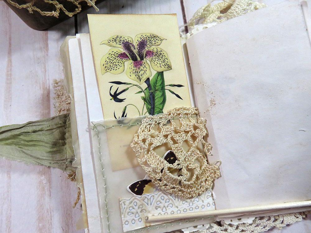 lace pocket floral botanical
