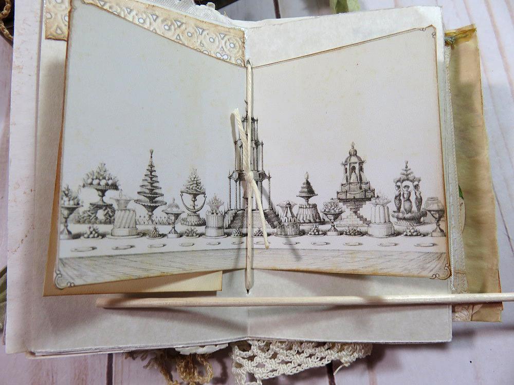 garden party ephemera junk journal page