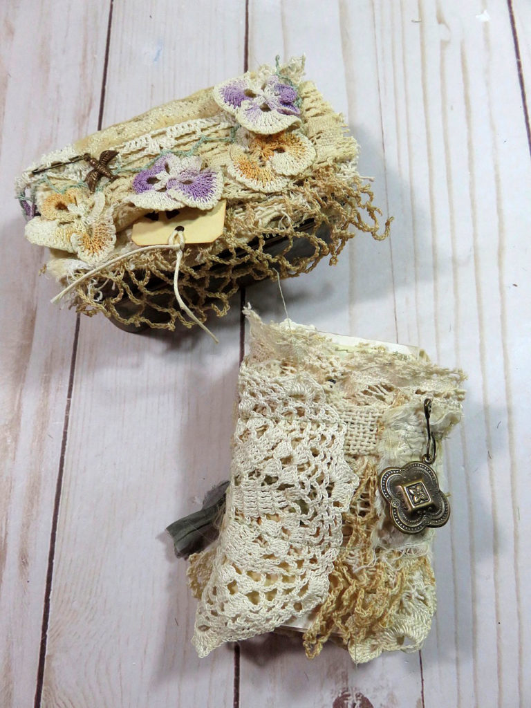 Garden Party Junk Journal lace cover