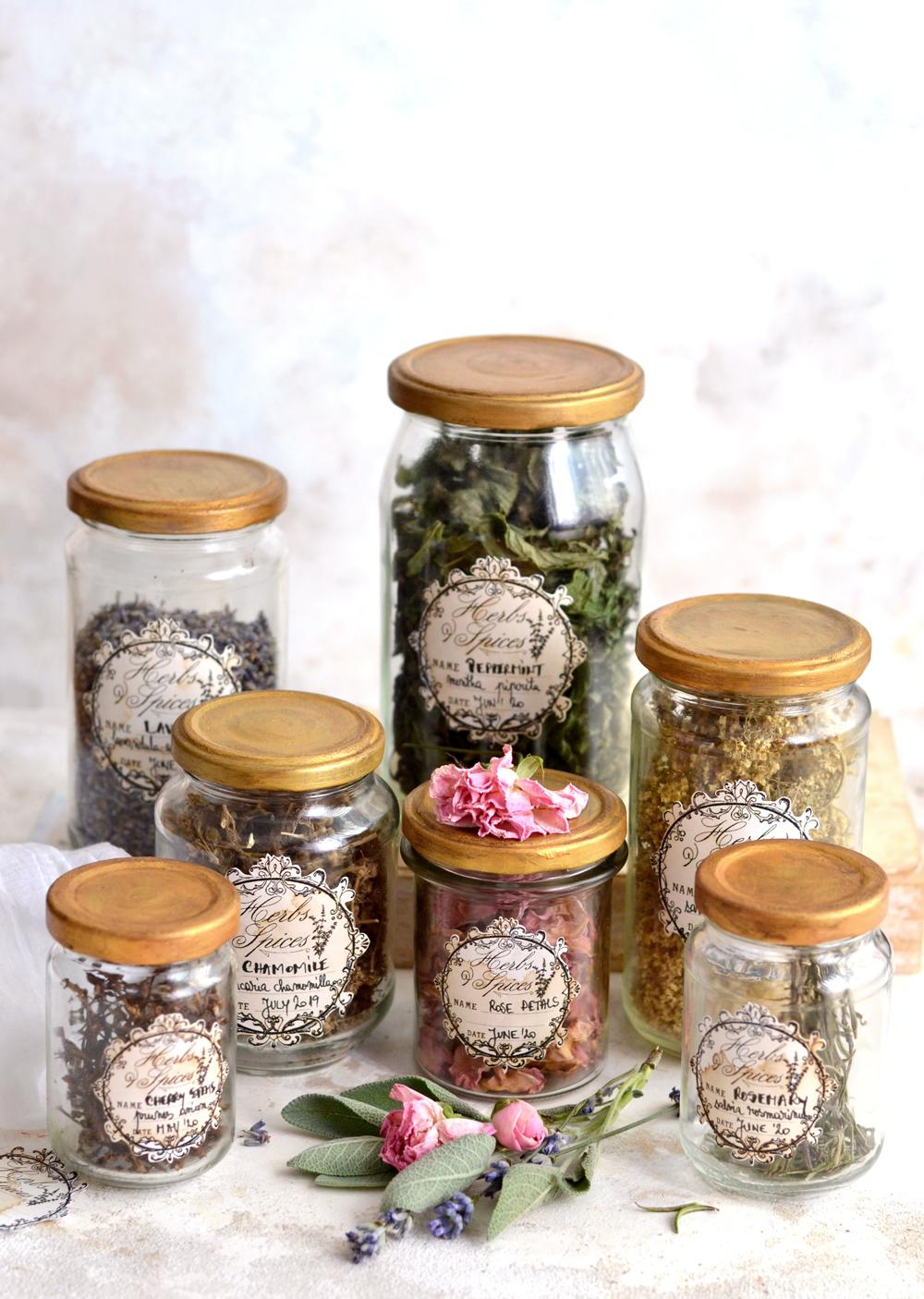 DIY Herb Apothecary Jars