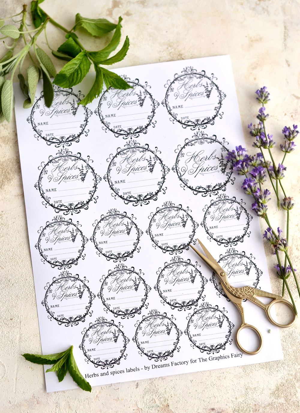 Printable Herb Apothecary Labels