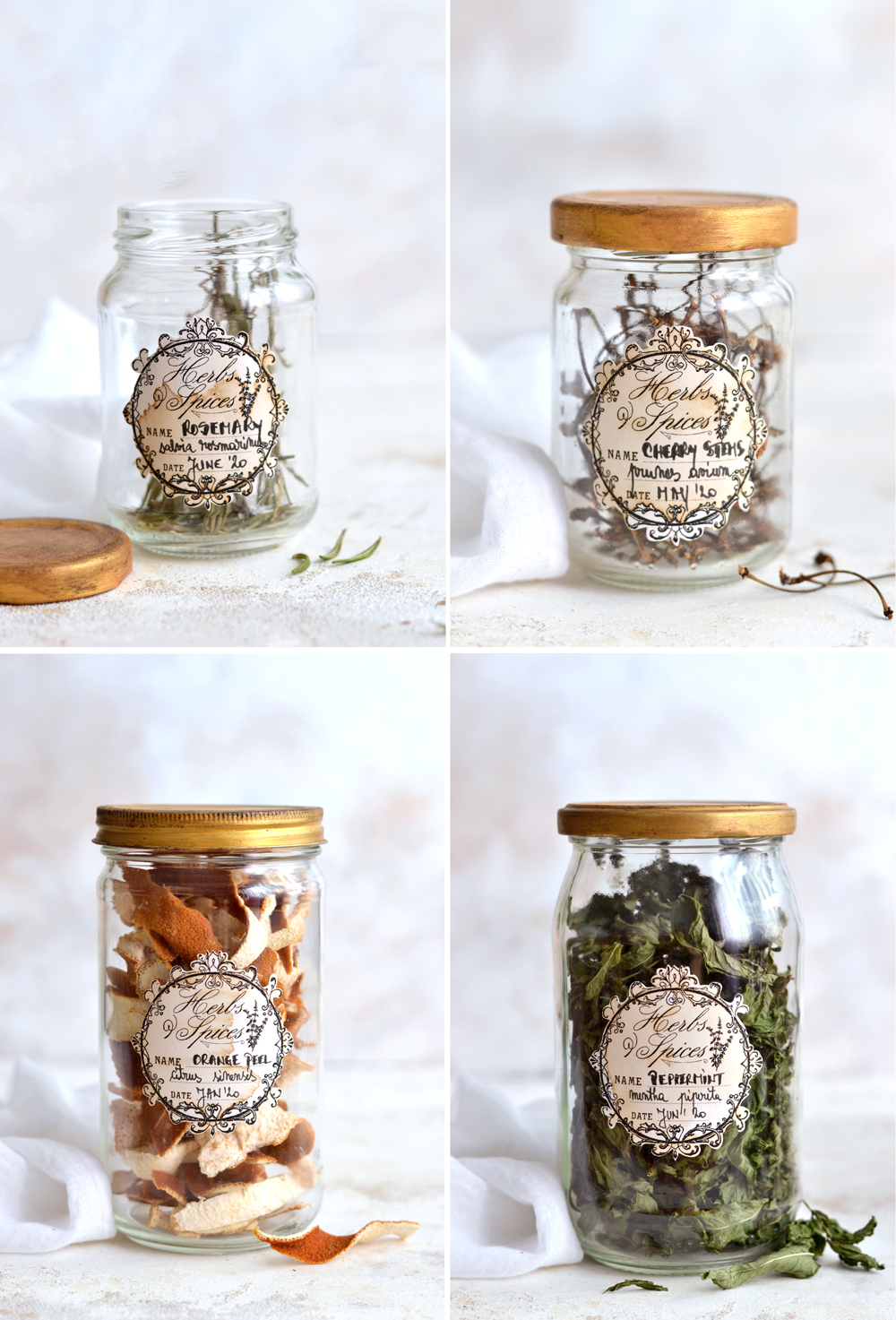 DIY Herbs and Spices Apothecary Jars