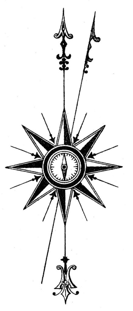 north point vintage compass illustration