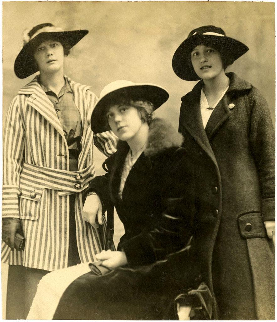 edwardian girls hats photograph clipart
