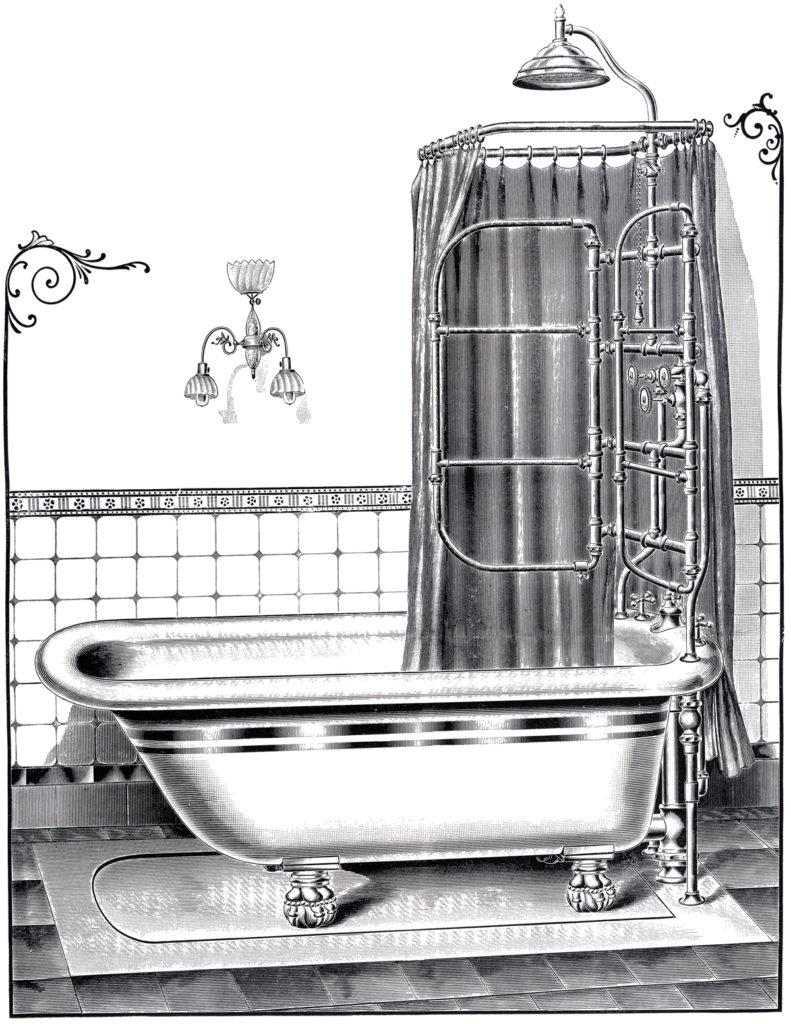 vintage bathtub image