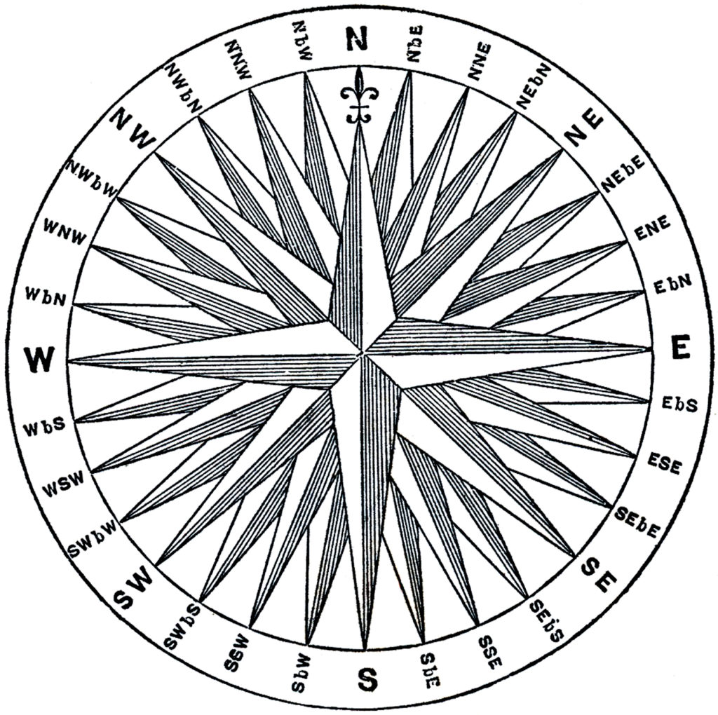 7 Vintage Compass Rose Images! - The Graphics Fairy