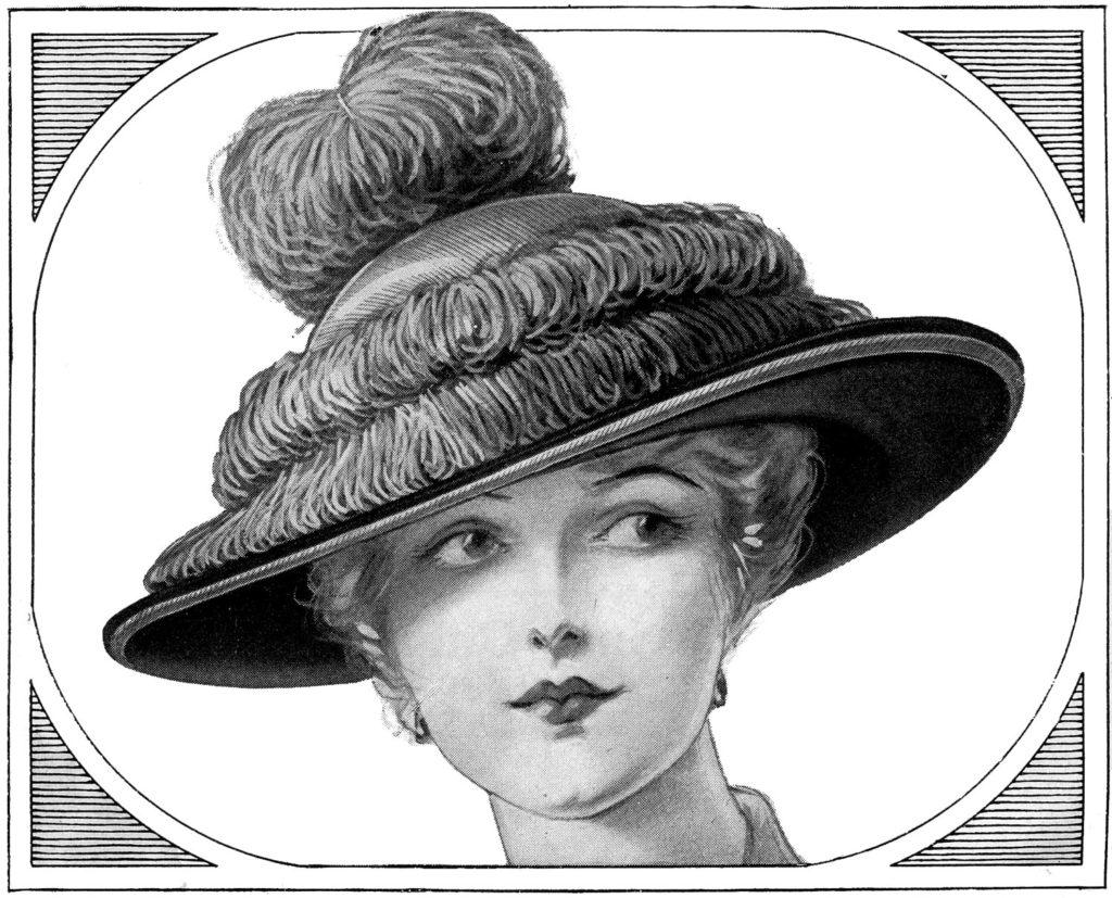 vintage lady fancy hat image
