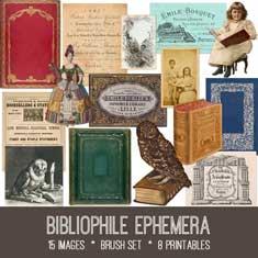 vintage bibliophile ephemera bundle