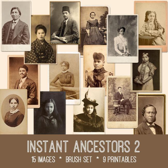 instant ancestors ephemera vintage images