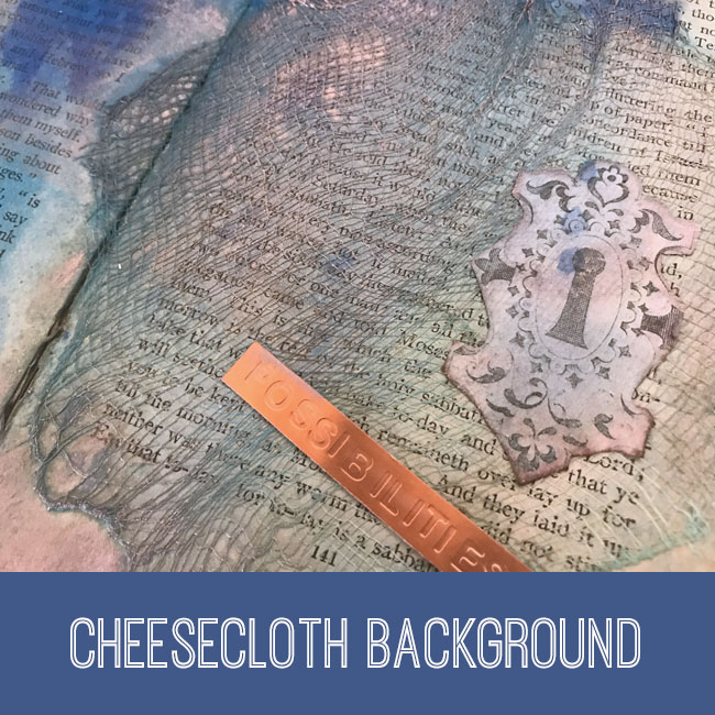 cheesecloth background craft tutorial