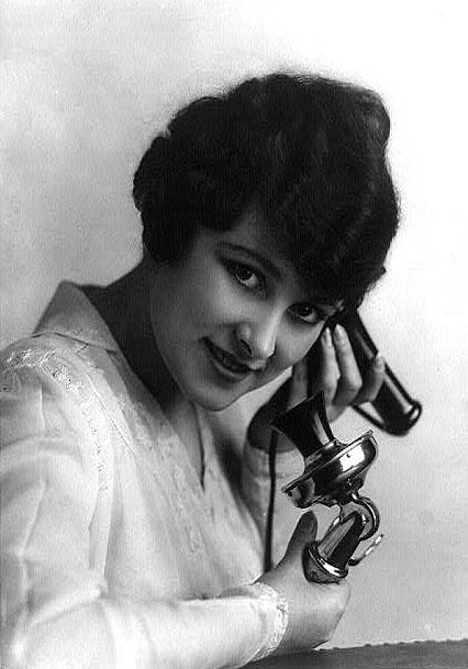 telephone lady vintage photo clipart