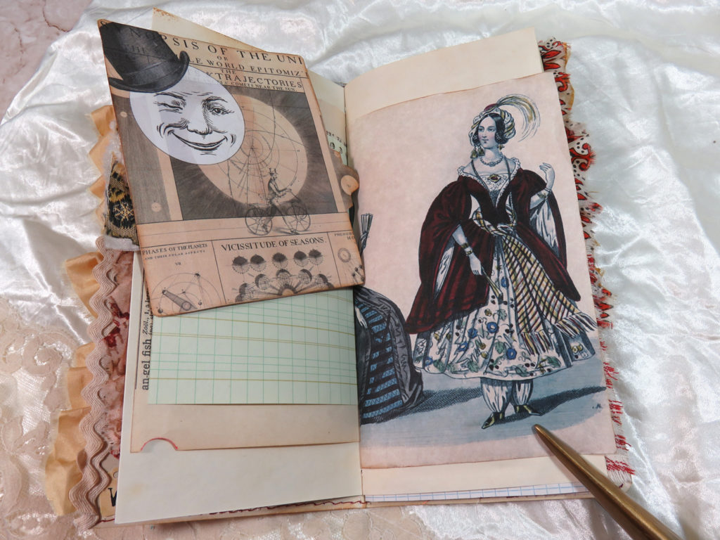 man in the moon lady journal page